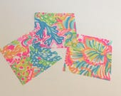 Cotton poplin fabric squares and pieces 6 X 6, 9 X 18  or 18 X 18 inches Lovers Coral / pieces ~Lilly Pulitzer~
