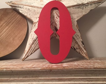 Hand-painted Wooden Letter O -  Wall Letters - Circus Font - Various sizes, finishes and colours