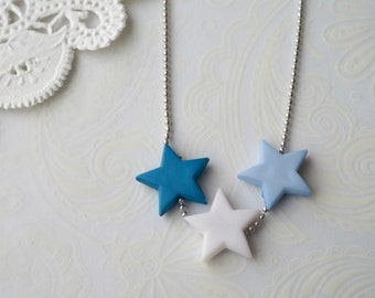 Pastel Blue Star Necklace