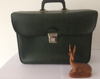 Vintage sixties green leatherette cycle bag shoppingbag
