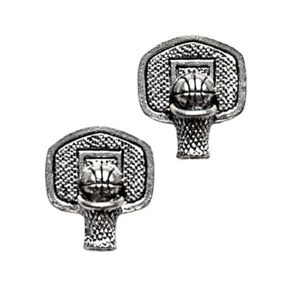 Basketball Pewter Cufflinks - Gifts for Men - Anniversary Gift - Handmade - Gift Box Included