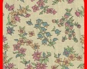 Calico Cotton FABRIC Fat Quarter Floral Bouquets Heavier Quilting Fabric Yardage