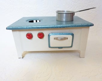 Vintage toy kitchen tin toy stove