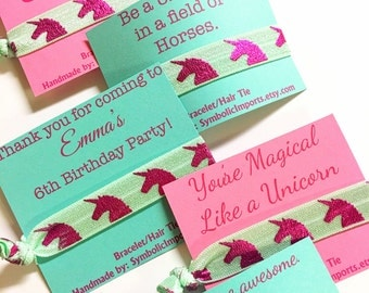 Unicorn Party, Unicorn, Unicorn Birthday, Birthday Party Favors, Unicorn Birthday Party Hair Ties, Unicorn Hair Ties