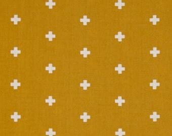 54057 - Joel Dewberry Wander collection PWJD117  Cross in Maize color - 1 yard