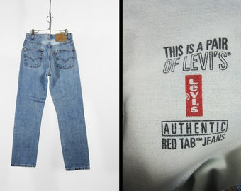 Vintage 90s Levi's 505 Jeans Faded Red Tab Distressed Denim Made in USA - 29 x 30