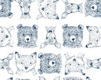 Woodland Crib Bedding, Woodland Crib Sheets, Woodland Baby Blanket, Nursery Bedding, Changing Pad Cover, Woodland Critters, Bear Deer Fox