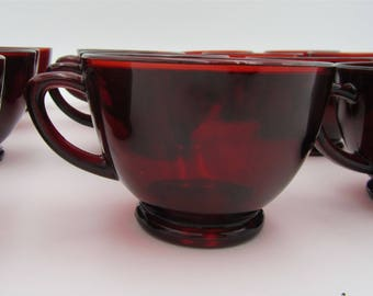 Set of 18 Vintage Anchor Hocking Royal Ruby Red Punch Snack Cups