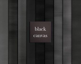 18 black canvas digital papers, black watercolor papers, dark digital papers, watercolour papers digital, coloured canvas DIGITAL DOWNLOAD