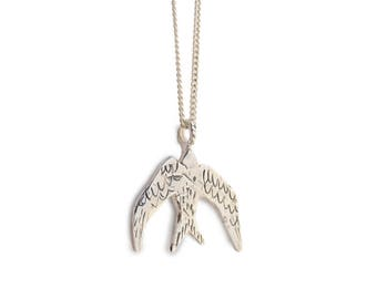 Swallow necklace sterling silver