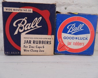 Vintage Ball Jar Seals - Small and Wide Mouth