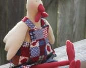 Custom order for B. - handmade rooster toy doll stuffed toy