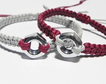 Mechanical Engineer Matching Bracelets, Engineer Gift, Mechanic Gift, Couple Bracelets, Anniversary Bracelets, Hex Nut Bracelet, Mens Gift