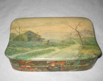 "Neat Vintage 5"" X 8"" Celluloid Top Dresser Vanity Box"