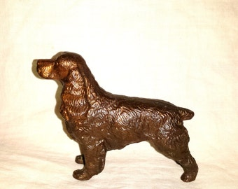 1920's Cast Copper Clad Setter Spaniel Dog Figurine