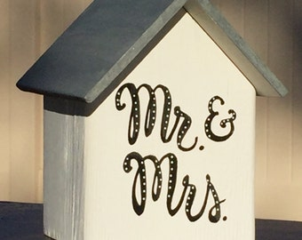 Wedding Decor - Mr. & Mrs. Whitewashed Cottage