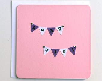Baby Girl Card - Baby girl banner
