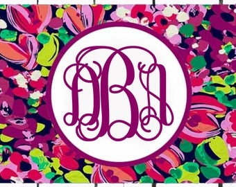 Personalized License Plate- Monogrammed Car Tag- Perfect Sweet Sixteen Gift - Lilly Inspired Wild