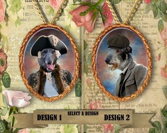 Scottish Deerhound Jewelry/Scottish Deerhound Pendant/Scottish Deerhound Brooch/Deerhound Necklace/Custom Dog Jewelry by Nobility Dogs