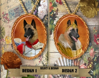 Belgian Malinois  Jewelry. Malinois  Pendant or Brooch. Malinois Necklace.  Malinois Portrait. Custom Dog Jewelry by Nobility Dogs