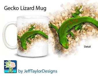 Gecko Lizard Reptile Coffee Mug