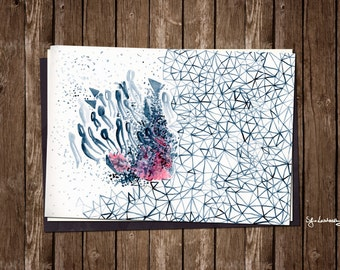 "The ""Immateriality"", watercolor art. Giclée print on archival paper. 29,7x21cm Poster."