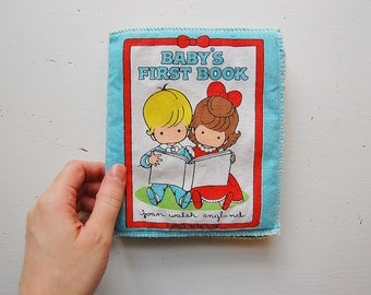 Joan Walsh Anglund Book, Baby's First Book, Vintage Cloth Book, Random House 1985
