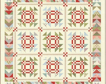Snowfall  Prints quilt kit by Minick and Simpson for Moda fabric