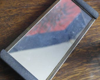 vintage retro rectangular mirror tray