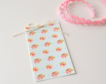 Floral Gift Tags - Gift Packaging - Set of 10