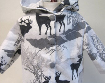 Deer Winter,  Flannel Jacket for Your 18 Inch Doll A