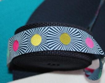 """Ladies Ribbon Belt Preppy RIbbon Belt Tula Pink Belt Navy and White Belt Summer BElt Cinch Belt 1.25"""" wide Ribbon Belt Turquoise Belt"""
