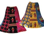 BETSEY JOHNSON Alley Cat 70's Sweater Boho Flared Maxi Hippie Skirt