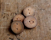 3/4 Inch Tree Branch Buttons, Exotic wood button, Arbutus Tree Button