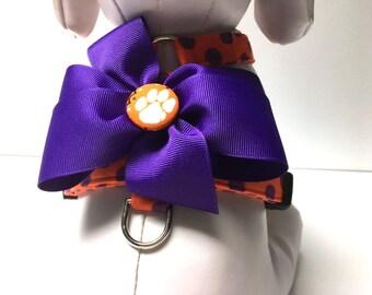 Dog Harness- The Orange and Purple