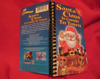 Santa Claus Is Comin' To Town VHS box notebook