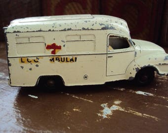 Vtg. Lesney Pre-Matchbox Series No. 14 Lomas Ambulance Made in England