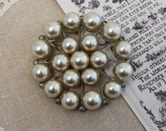 Vintage Brooch, Pearl Brooch, Heirloom, Pin, Antique