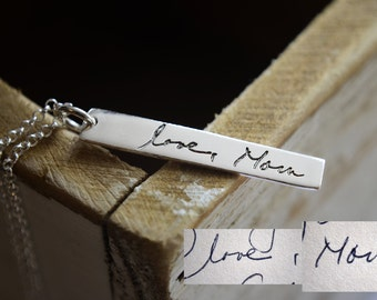 Actual Handwriting Necklace or Bracelet - Custom Handwriting Jewelry - Signature into a Keepsake - Personalized Memories Love Notes Letters