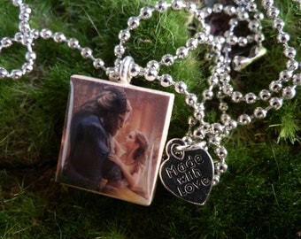 Beauty And The Beast Scrabble Tile Necklace