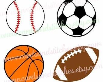 Sport Stencils - Sport Ball Stencils - Stencil - Reusable Stencil - Art Stencil - Craft Stencil - Great for Clothes, Wood, and Walls
