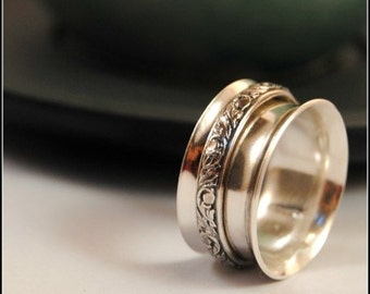 Sterling Silver Wide Spinner Ring