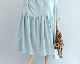 Women Loose fitting Long Light blue dress/ Long Maxi Dress/ Women Long Oversize sundress