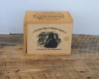 Vintage Yukon Jack Canadian Liqueur Wood Box