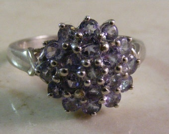 Vintage Iolite Multi Stone Ring in Sterling Silver..... Lot 5105
