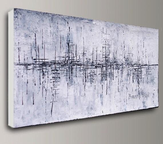 toile abstraite grand format elegant point de fuite peinture x cm par christine leger abstrait. Black Bedroom Furniture Sets. Home Design Ideas