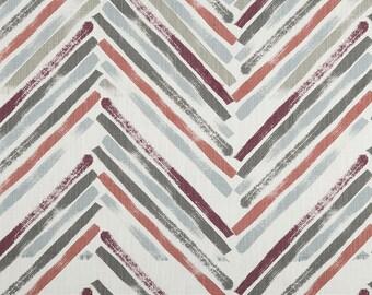 Stella Scarlet Slub Canvas Geometric Modern Curtains - Rod Pocket - 84 96 108 or 120 Long by 25 50 Wide