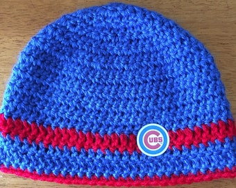 Crocheted Chicago Cubs Hat