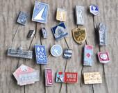 Set of 20 Vintage Soviet Russian badges,pins.
