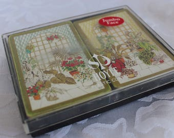 Jumbo Face Double Set of Playing Cards In Original Box - Hoyle Playing cards - Bridge Playing Cards